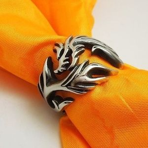 NEW WOMEN'S TRIBAL DRAGON RING STAINLESS STEAL 925